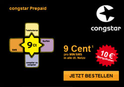 Angebot 9 Cent Prepaid Tarif