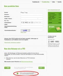 Fyve Starterpaket Persönliche Daten