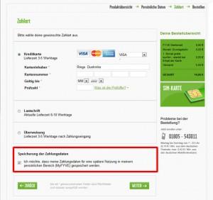 Fyve Starterpaket Zahlung