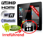 Pearl Tablet Angebot mit irreführender 3G Angabe