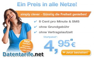 Simply Clever Prepaid Tarif Aktionseite