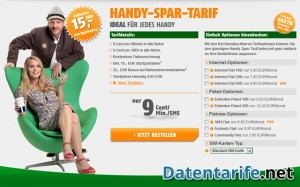 Klarmobil Handy-Spar-Tarif Angebotsseite