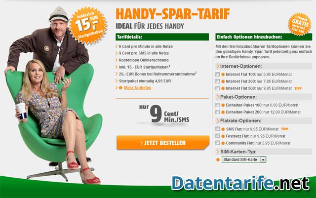 Spar Klarmobil Handy Tarif multiplayer essential