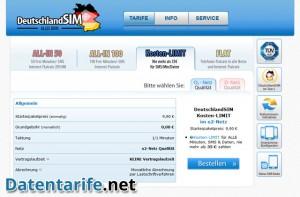 deutschlandSIM Kosten-LIMIT Angebot O2