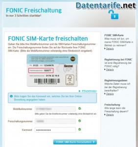 Fonic Classic Prepaid SIM aktivieren