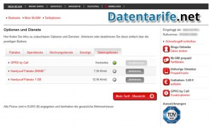 McSIM Servicewelt Datenoption