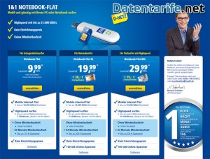 1&1 Notebook Flat Angebot