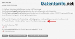DeutschlandSIM Servicewelt Daten Flat