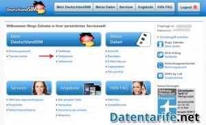 DeutschlandSIM Servicewelt Startseite