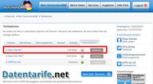 DeutschlandSIM Servicewelt Tarifoption