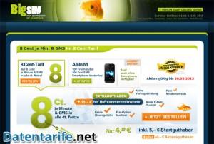 BigSIM Angebot Prepaid Tarif