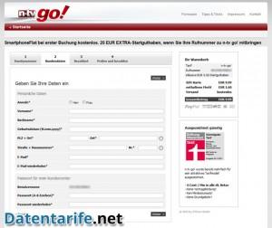 n-tv go! 6 Cent Prepaid Kundendaten