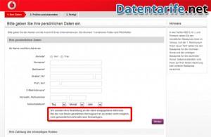 Vodafone CallYa Talk&SMS Ihre Daten