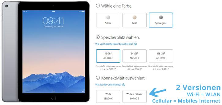 Datentarif für iPad